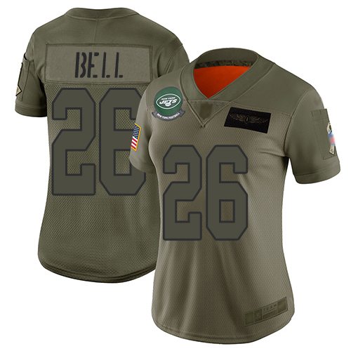 Nike Jets #26 Le'Veon Bell Camo Women's Stitched N nfl team jerseys cheap